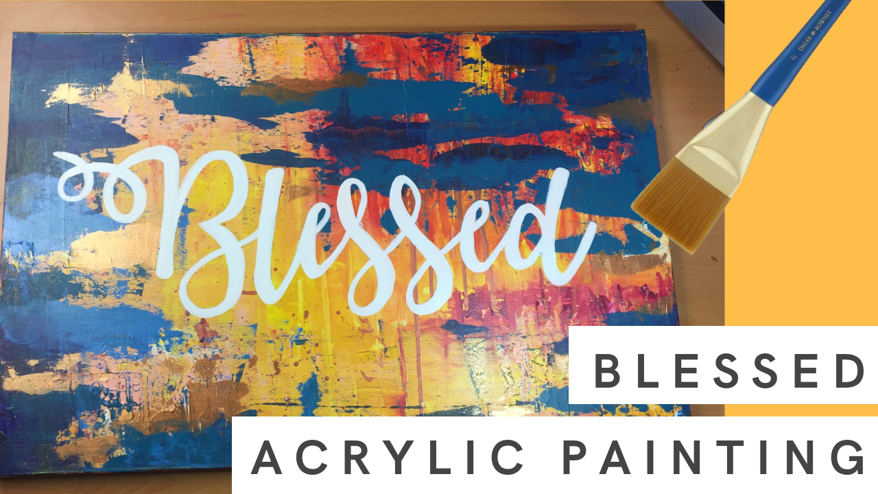 Blessed | Large Canvas Abstract Acrylic Painting