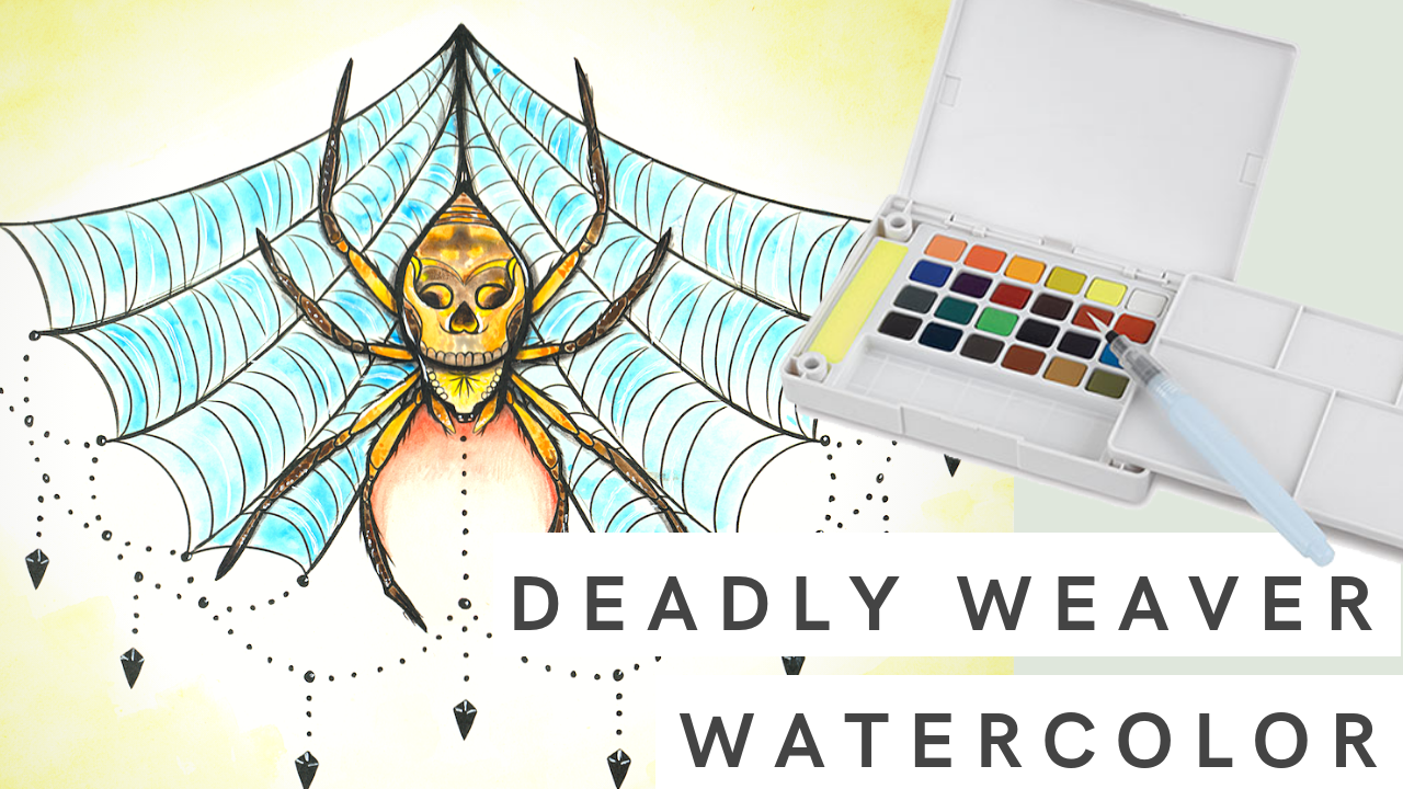 Deadly Weaver | Watercolor Painting