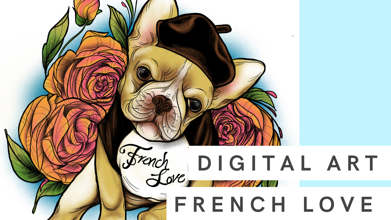 French Love | Digital Drawing with iPad and Procreate